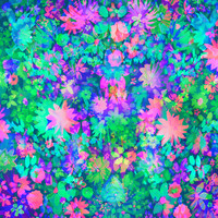 Fluro Floral Art Print by Amy Sia | Society6