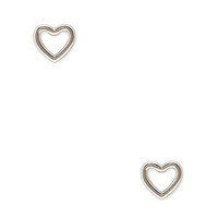 Cutout Heart Earring Studs
