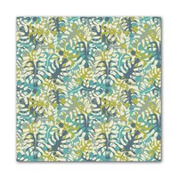 Kess InHouse JG1029AKP01 Julia Grifol Tropical Leaves Art Clings 12-Inch x 12-Inch Square Sticker Wallpaper Decal