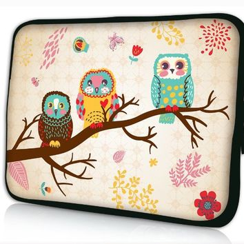 "Brand NEW Fashion cute Owl 15"" 15.4"" 15.6"" inch Laptop Bag Case Notebook Sleeve Cover Pouch for Lenovo Idealpad Thinkpad /Dell Inspiron 1545 15 15r /Dell XPS 15z Alienware M15x /Apple Macbook Pro/ 15.5"" Sony Vaio E Series/15.6"" Hp Pavilion/asus/acer Aspire"