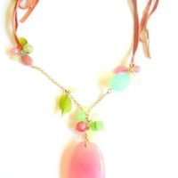 Last One Left Candy Pink Agate Necklace