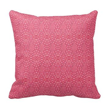 Pave Diamonds Candy Pink Throw Pillow