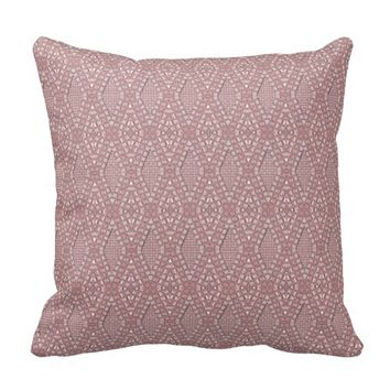 Pave Diamonds Pink Quartz Throw Pillow