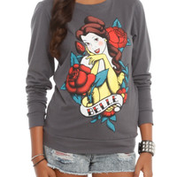 Disney Beauty And The Beast Belle Tattoo Girls Pullover Top
