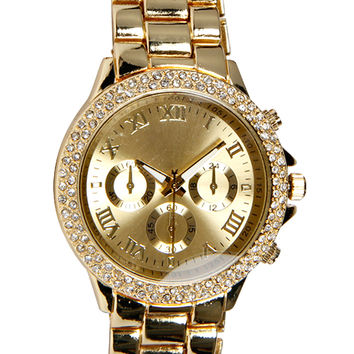 Mai Diamante Boyfriend Chain Watch