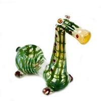 Hand Blown Glass Tobacco DRAGON Pipe Pyrex by zjonsglassworks