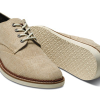 NATURAL BURLAP MEN'S BROGUES