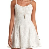 CROSS-BACK LACE SKATER DRESS