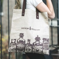 Canvas Tote Bag by American Apothecary