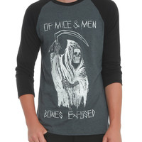 Of Mice & Men Bones Exposed Raglan