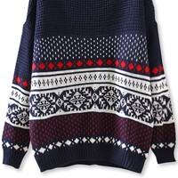 Southwestern Drop-Sleeves Sweater