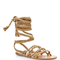 Kariatida Braided Strap Suede Sandals by Ancient Greek Sandals - Moda Operandi