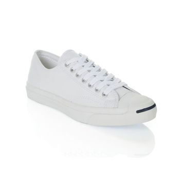 Converse Jack Purcell White Leather Trainers - Footwear