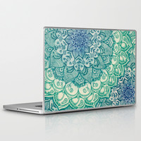 Emerald Doodle Laptop & iPad Skin by Micklyn | Society6