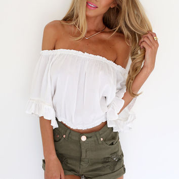 Cream Gypsy Top | SABO SKIRT