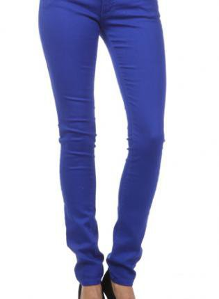 Blue Jeans - Royal Blue Skinny Colored Jeans | UsTrendy