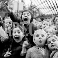 Wide Range of Facial Expressions on Children at Puppet Show the Moment the Dragon is Slain Photographic Print by Alfred Eisenstaedt at Art.com