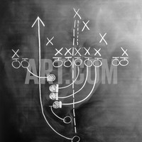 Football Play on Chalkboard Photographic Print by Howard Sokol at Art.com