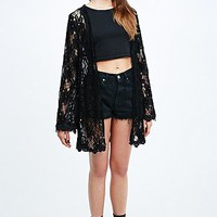Lucca Couture Lace Kimono in Black - Urban Outfitters