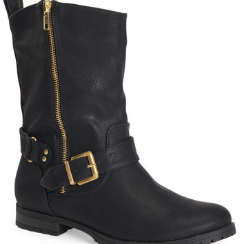 Side-Zip Buckle Boot