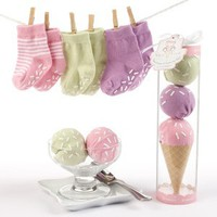 Ice Cream Sweet Feet Three Scoops of Socks - Blue or Pink Available
