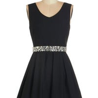 ModCloth Sleeveless A-line Sophisticated Spirit Dress