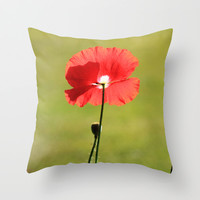 Standing Alone - JUSTART © Throw Pillow by JUSTART  * Syl *