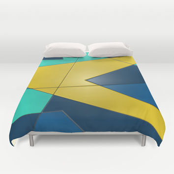 Yellow and Blue Duvet Cover by DuckyB (Brandi)