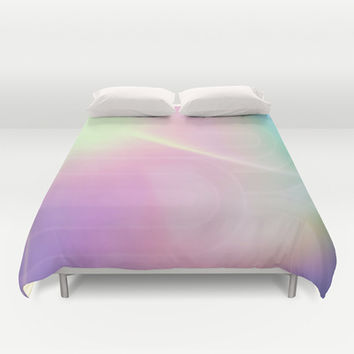 Cotton Candy Sky Duvet Cover by DuckyB (Brandi)