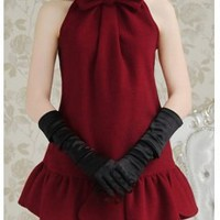 Hot sell burgundy sleeveless wool lady dress