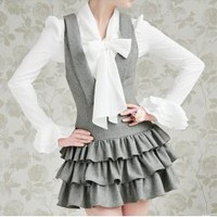 Hot sell white and grey women dress