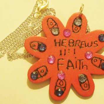 God is Love and Hebrews 11:1 Necklace with beads