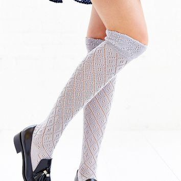 Diamond Ruffle Over-The-Knee Sock - Urban Outfitters