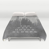 The City Never Sleeps Duvet Cover by Ally Coxon | Society6