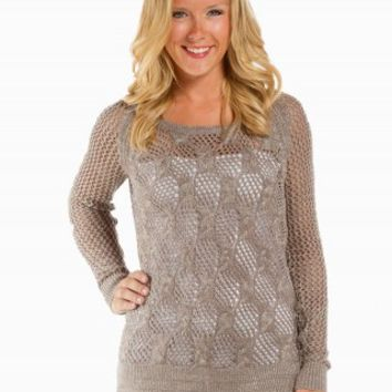 CRISS-CROSS LUREX SWEATER