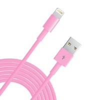 Eaglewood(TM) Extra Long Extened 10 Feet 3M 8 Pin to USB Sync and Charging Cable Charger Cord Wire for iPhone 5 5s 5c iPod Touch Nano 7th Gen (Pink)