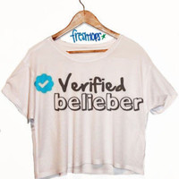Verified Belieber Crop Shirt