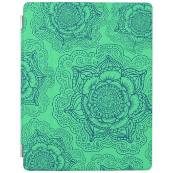 Green Blue Mandala Pattern