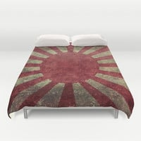 The imperial Japanese Army Ensign Flag Duvet Cover by Bruce Stanfield
