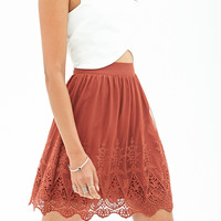 Mesh Embroidered Skirt