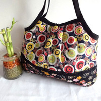 Japanese Kimono Pattern Granny bag purse umbrella by MofLeema