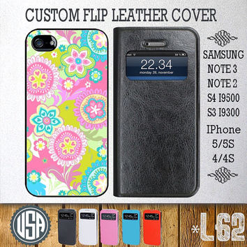 Beautiful Flower Art Flip Leather Cover @ Samsung Galaxy S4 case , Galaxy S3 , Samsung Note 3 Note 2 , IPhone 5 case , 5S , IPhone 4 4S L62