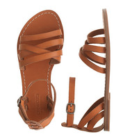 crewcuts Girls Strappy Leather Sandals