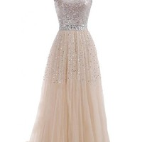Emma Y Exquisite Sweetheart Tulle Long Prom Dress Party Gowns