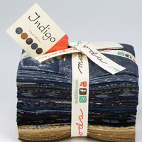 Indigo Fat Eighth Bundle by  Moda Fabrics, Indigo Fabric