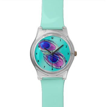 Radiant Peacock Feather Mint May28th Watch