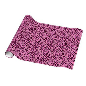 Pink Cheetah Print Wrapping Paper