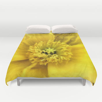 Jaune Duvet Cover by DuckyB (Brandi)