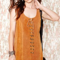 Vintage Best of the West Suede Dress