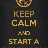 Keep Calm - The Hunger Games Poster 05 Art Print by Misery | Society6